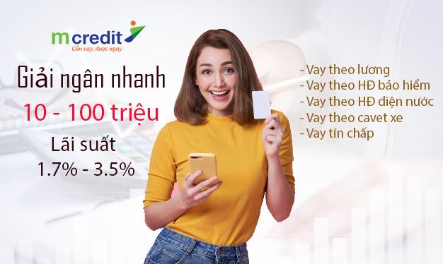 Hướng dẫn vay tiền Mcredit trực tuyến